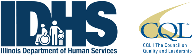 Logos for the Council on Quality Leadership and the Illinois Department of human Services