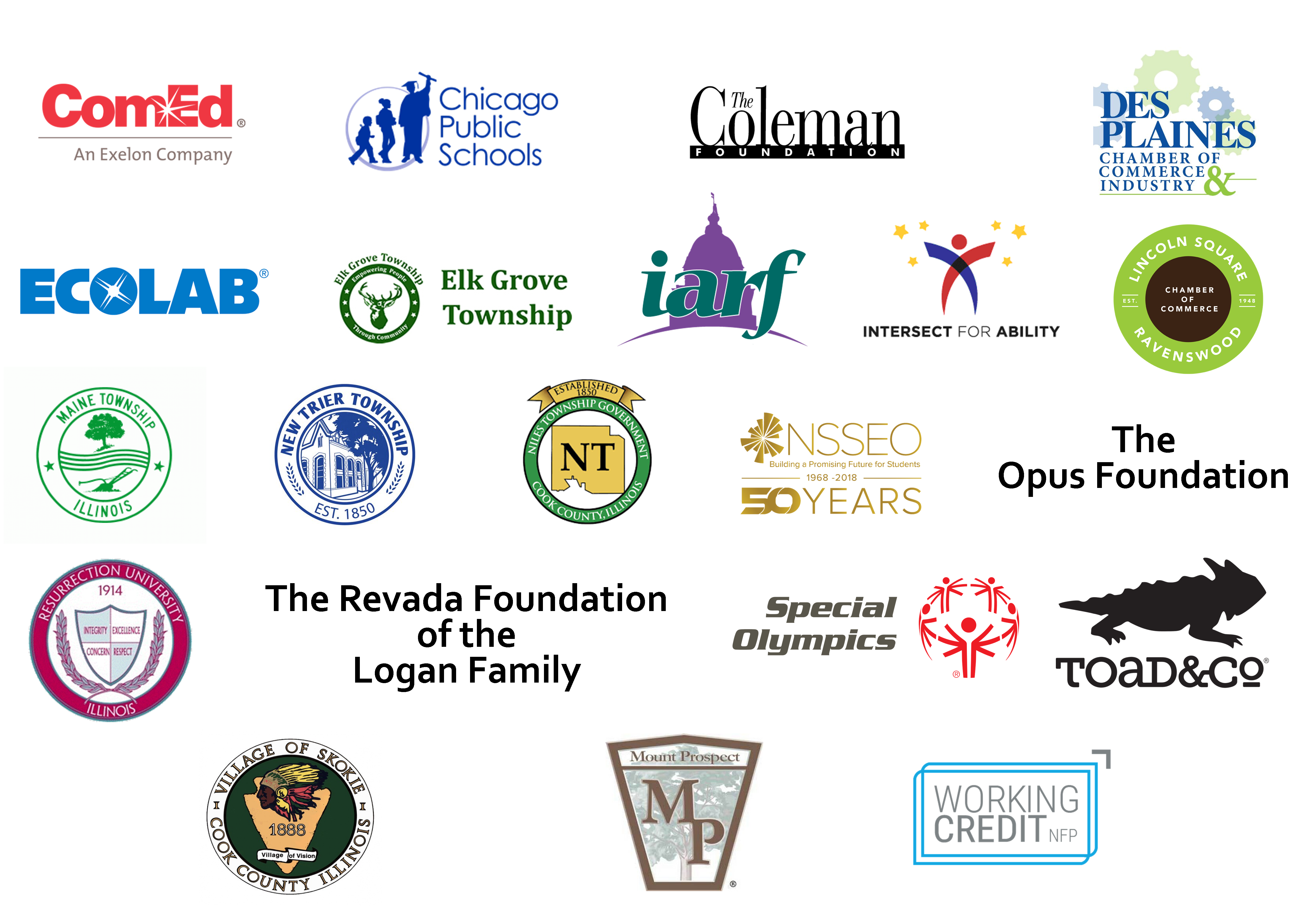 Image cluster of logos that Search, Inc. has partnered with